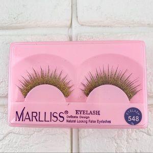 Marlliss gold glitter sparkle false eyelashes lash